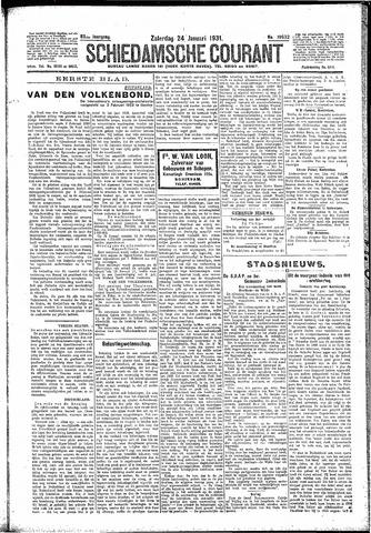Schiedamsche Courant 1931-01-24