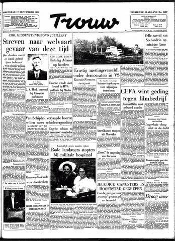 Trouw / De Rotterdammer 1958-09-17