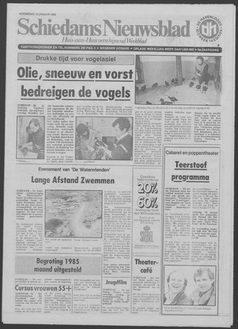 Schiedams Nieuwsblad 1985-01-16