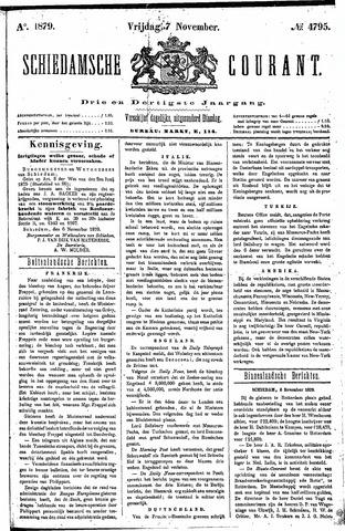 Schiedamsche Courant 1879-11-07