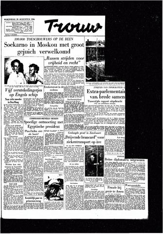 Trouw / De Rotterdammer 1956-08-29