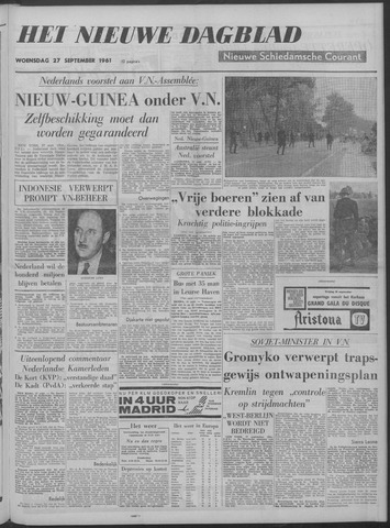 Nieuwe Schiedamsche Courant 1961-09-27