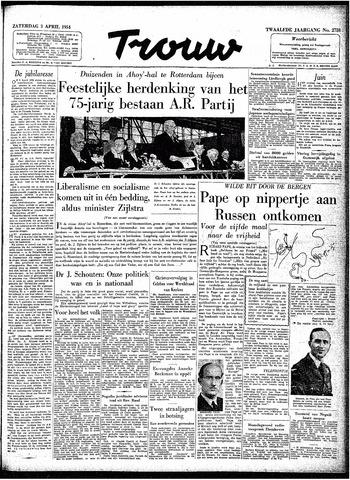Trouw / De Rotterdammer 1954-04-03