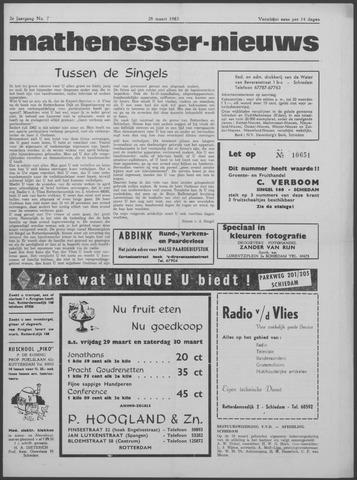 Mathenesser Nieuws 1963-03-28