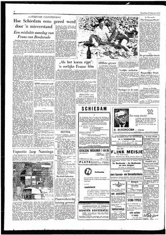 Rotterdamsch Parool / De Schiedammer 1955-02-12