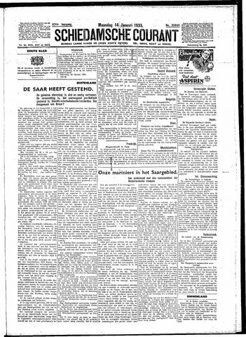 Schiedamsche Courant 1935-01-14