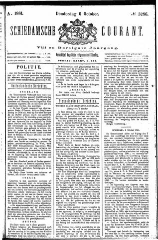 Schiedamsche Courant 1881-10-06