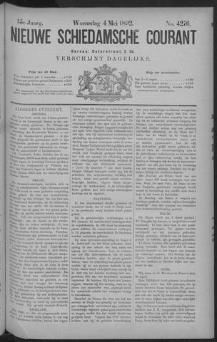 Nieuwe Schiedamsche Courant 1892-05-04