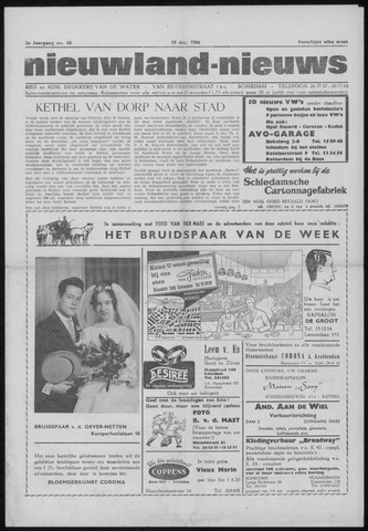Nieuwland Nieuws 1964-12-10