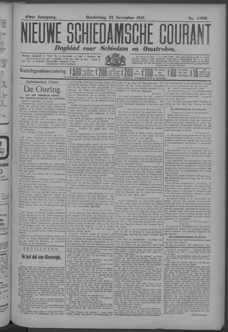 Nieuwe Schiedamsche Courant 1917-11-22