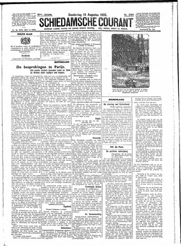Schiedamsche Courant 1935-08-15
