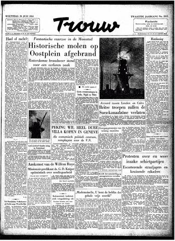 Trouw / De Rotterdammer 1954-07-28