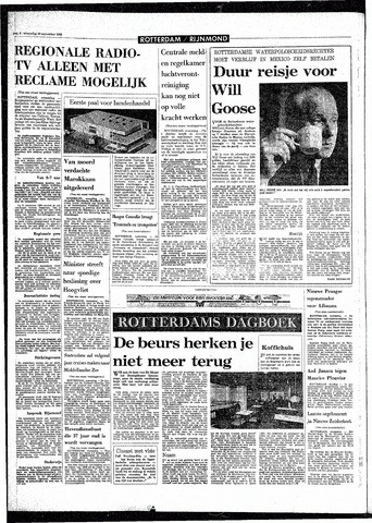 Rotterdamsch Parool / De Schiedammer 1968-09-25