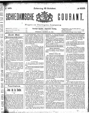 Schiedamsche Courant 1885-10-10