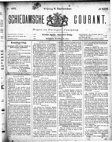 Schiedamsche Courant 1885-09-11