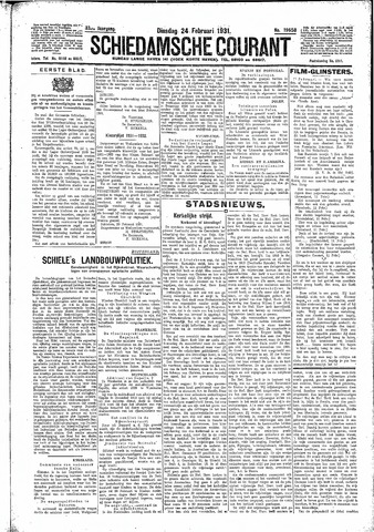 Schiedamsche Courant 1931-02-24