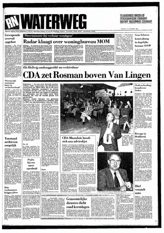 Rotterdamsch Nieuwsblad / Schiedamsche Courant / Rotterdams Dagblad / Waterweg / Algemeen Dagblad 1985-12-13