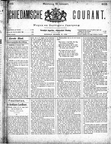 Schiedamsche Courant 1885-01-19