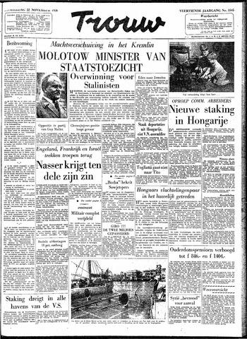 Trouw / De Rotterdammer 1956-11-22