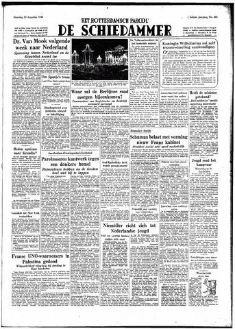 Rotterdamsch Parool / De Schiedammer 1948-08-30