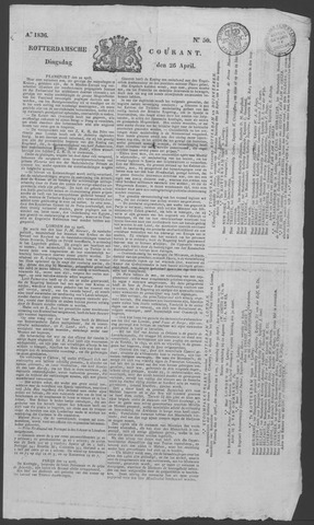 Rotterdamse Courant 1836-04-26