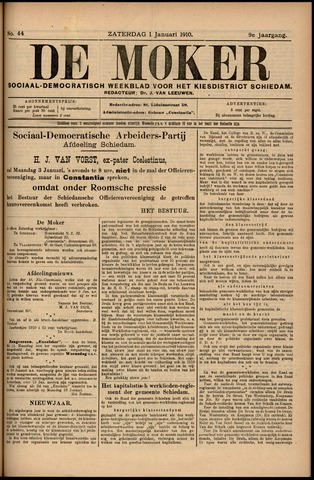 De Moker 1910