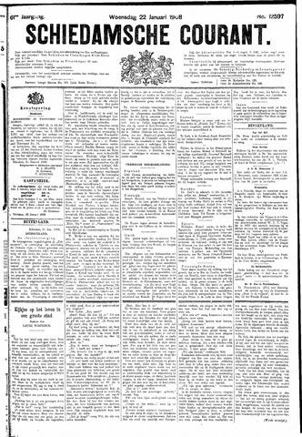 Schiedamsche Courant 1908-01-22
