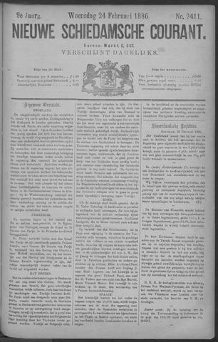 Nieuwe Schiedamsche Courant 1886-02-24