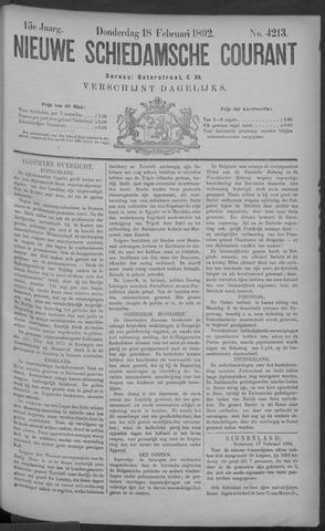 Nieuwe Schiedamsche Courant 1892-02-18