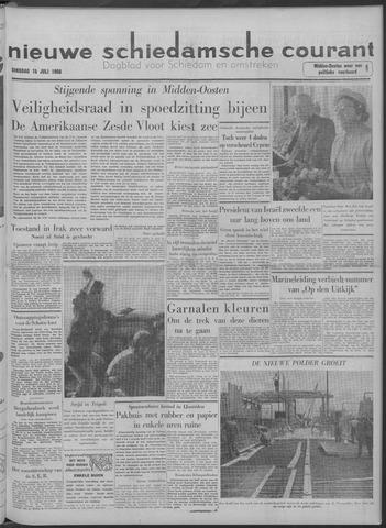 Nieuwe Schiedamsche Courant 1958-07-15