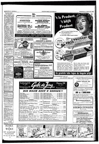 Rotterdamsch Nieuwsblad / Schiedamsche Courant / Rotterdams Dagblad / Waterweg / Algemeen Dagblad 1953-02-11