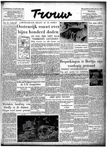 Trouw / De Rotterdammer 1954-01-14