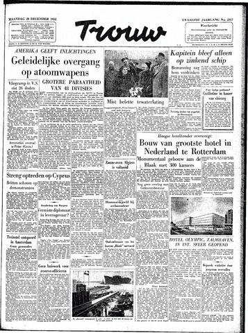 Trouw / De Rotterdammer 1954-12-20
