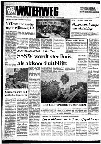 Rotterdamsch Nieuwsblad / Schiedamsche Courant / Rotterdams Dagblad / Waterweg / Algemeen Dagblad 1985-11-29
