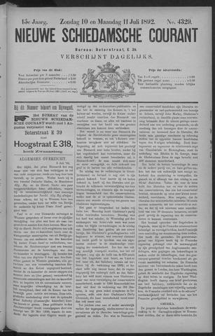 Nieuwe Schiedamsche Courant 1892-07-11