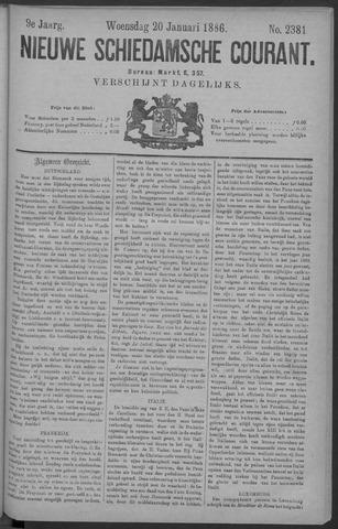 Nieuwe Schiedamsche Courant 1886-01-20