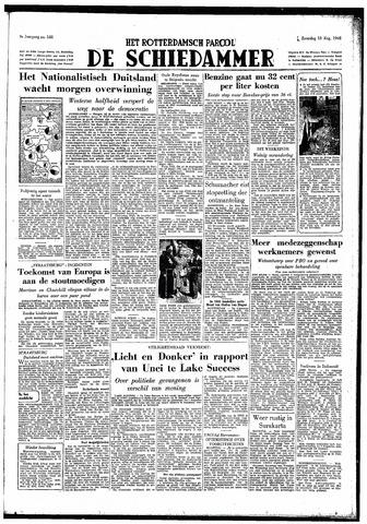 Rotterdamsch Parool / De Schiedammer 1949-08-13