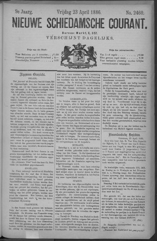 Nieuwe Schiedamsche Courant 1886-04-23