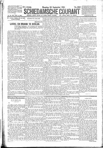 Schiedamsche Courant 1931-09-28
