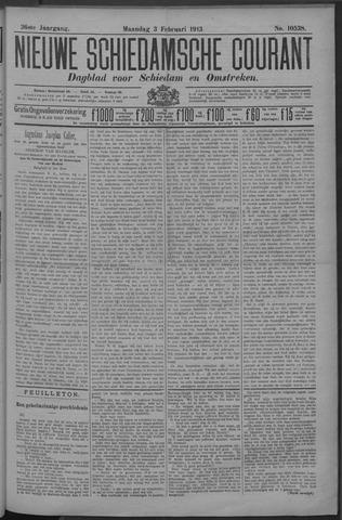 Nieuwe Schiedamsche Courant 1913-02-03