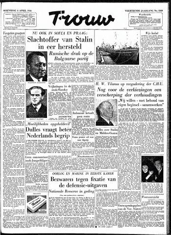 Trouw / De Rotterdammer 1956-04-04