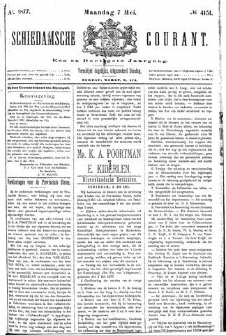 Schiedamsche Courant 1877-05-07