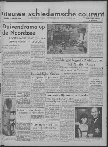 Nieuwe Schiedamsche Courant 1958-08-12
