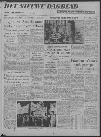Nieuwe Schiedamsche Courant 1961-10-28