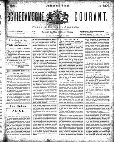Schiedamsche Courant 1885-05-07