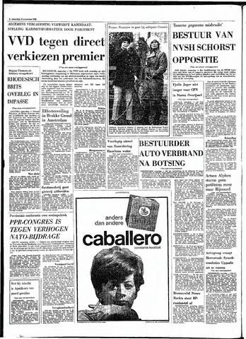 Rotterdamsch Parool / De Schiedammer 1968-11-18