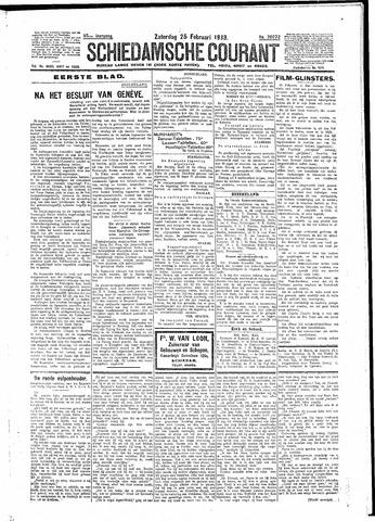 Schiedamsche Courant 1933-02-25