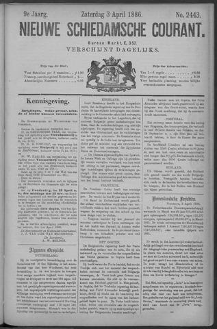 Nieuwe Schiedamsche Courant 1886-04-03