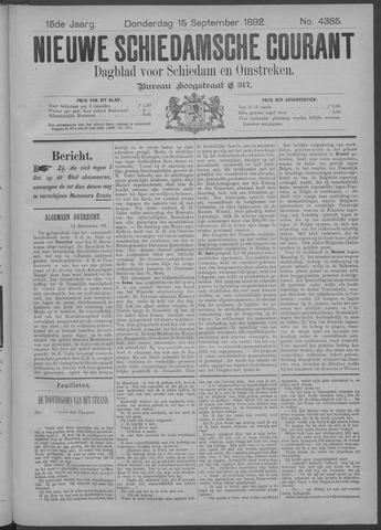 Nieuwe Schiedamsche Courant 1892-09-15