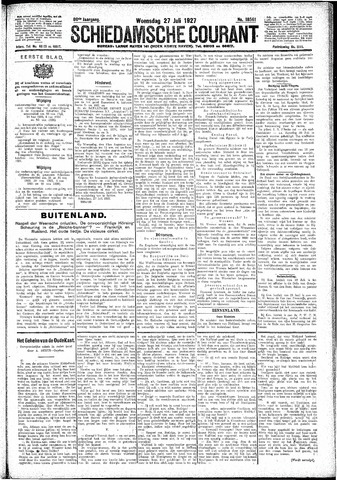 Schiedamsche Courant 1927-07-27